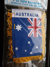 Australia Flag Window Mini Banner