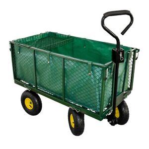 Carro de transporte, carro de jardin, carretilla de jardin, hasta 550 kg, 220L
