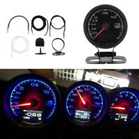 Turbo Boost Gauge colours LCD Display With Voltage Meter Car Gauge 62mm 2.5 Inch
