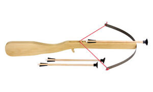 Kinderarmbrust / Spielarmbrust mit Bolzen Arbrust für Kinder Holz Spielzeug
