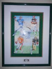 Framed Miami Hurricanes NFL Quarterbacks lithograph - very rare!!!