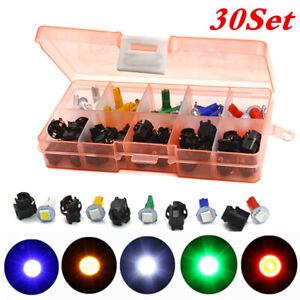 30 Set Car T5 LED Mix Bulb Instrument Cluster Dash Light Twist Socket 5 Color