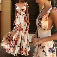 Women's Boho Long Maxi Dress Ladies Cocktail Party Evening Summer Beach Sundress