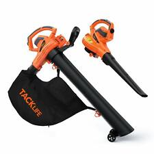 TACKLIFE 3 in 1 Leaf Blower/Vacuum/Mulcher, 12 Amp Blower, 175 MPH & 495 CFM, 5