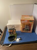Department 56 Halloween M&M's Spooky House Lighted Candy Dish w/ Box Works