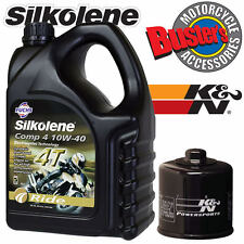 SUZUKI GSXR1000 SV1000 TL1000 K&N Oil Filter and 4L Silkolene Comp 4 10W-40 Oil