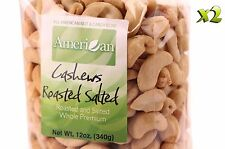 24oz Gourmet Style Bags of Roasted Salted Whole Premium Cashews [1 1/2 lb.]