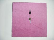 FAUX SUEDE WALL ART CLOCK HANDMADE 20CM SQUARE BROWN CREAM WHITE RED BLUE PURPLE