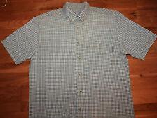 WOOLRICH  MENS  LIGHT GREEN  Pattern Short Sleeve Shirt -M