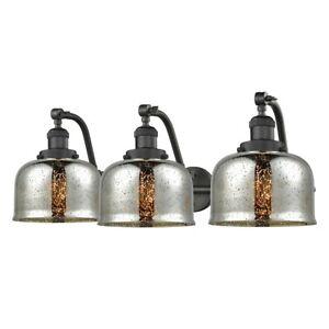 Innovations Large 3 Light Bath, Amber/Bronze/Mercury Bell - 515-3W-OB-G78