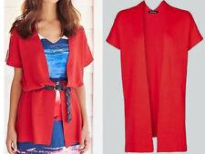 Ladies Red Longline Cardigan Size 10/12 by Kaleidoscope Sleeveless Womens