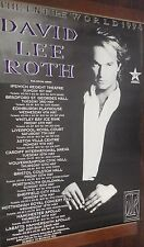 40x60 HUGE SUBWAY POSTER~David Lee Roth 1994 Entire World Tour Concert Van Halen