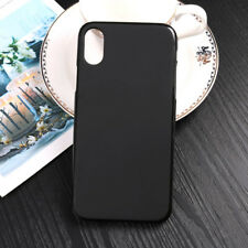 Funda carcasa lisa color negro negra tpu gel silicona goma para Apple iPhone X