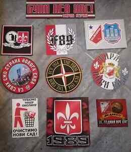 10 x Serbian  Football Ultras Stickers THE FIRM Vojvodina Novi Sad II