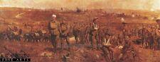 First World war military art print breaking the hindenburg line trenches british