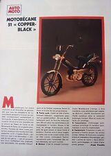 publicité  de presse CYCLOMOTEUR  MOTOBECANE COPPER BLACK  en 1981 ref. 39431