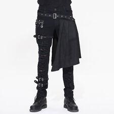Mens Pants Trousers Jeans  Black Dieselpunk Gothic Punk Half Skirt Devil Fashion