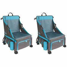 Coleman Treklite Plus 2-in-1 12 Can Cooler Backpack and Chair, Blue (2-Pack)
