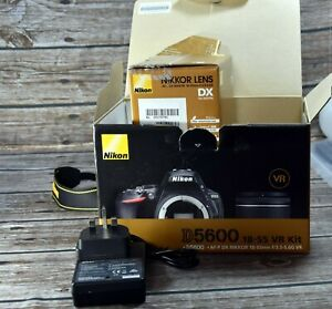 Nikon D5600 24.2 MP,18-55  AF-P VR  lens.very low shutter count of 1516, boxed