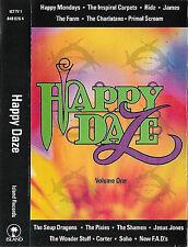 Various Happy Daze Vol.1 CASSETTE ALBUM Pixies Primal Scream Farm Shamen Mondays