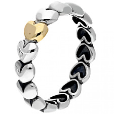 GOLD LARGE love ring Love Band 925 Sterling Silver Sparkling Stackable