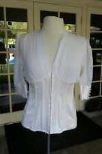Guess Marciano Sexy Vintage Ivory Corset Silk Blouse Renaissance Inspired - S