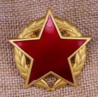 Yugoslav Medal Partisan Star with Gold Wreath Badge Award Yugoslavia Pin Replica