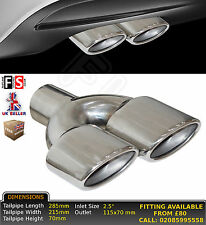 "UNIVERSAL PERFORMANCE STAINLESS STEEL TAILPIPE LEFT 2.5"" INLET - Mercedes 1"