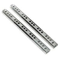 2 Pcs Ball Bearing Slide Rail Cabinet Drawer Runners Slider 8 /10 /13/1inch 17mm