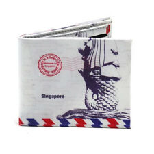 Mail of Singapore Envelope Bi-Fold Leather Wallet (Multicolor)
