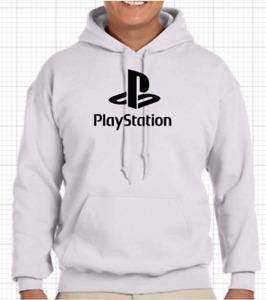 PLAYSTATION GAMER GAME PSP Black White Navy Hoodie Hoody Hood Gildan S-XXL