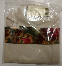 Longaberger SIX Majolica Garden Flax Wine Bags Beverage Tote liner mint in bag!