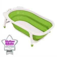 Karibu Baby Bath Folding Travel Bath Infant to Toddler Anti Slip Bathtub Lime