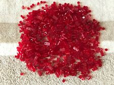 700 LEGO red translucent parts mix lot - AS IN THE PICTURE cone pin bomb