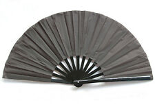 "High Quality 13"" Chinese Tai Chi Martial Arts Kung Fu Bamboo Fan Black New"