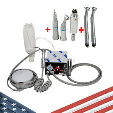 Dental Portable Air Turbine Unit Work With Compressor High Low Speed Handpiece Us