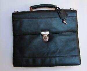Leonhard Heyden Stuttgart Aktentasche Briefcase Notebooktasche schwarz black