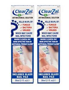 ClearZal BAC Antimicrobial Solution 30ml Kills Fungus, Bacteria & Viruses x 2