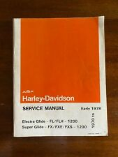 New ListingAmf Harley-Davidson Service Manual, 1970-early 1978, Electra & Super Glide 1200