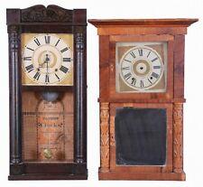Clocks- 4 (Four): (1) E. W. Adams, Seneca Falls, New York, 30 hour, t... Lot 637