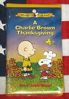 NEW A Charlie Brown Thanksgiving (VHS, 1973) Peanuts Cartoon Classic Video RARE