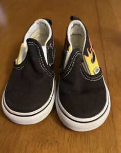 """VANS TODDLER """"FLAME"""" LOAFER SNEAKS....SIZE 7.....NWOB CONDITION....FREE SHIPPING"""