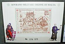 SOVRANO MILITARE ORDINE DI MALTA 1990 DIVISE MAPPE NUOVO FOGLIO MNH** (C.J)