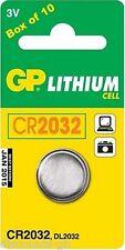 10 GP 2032 cr2032 dl2032 moneta cella allarme Fob Batteria Torcia giocattolo - 10 Confezione
