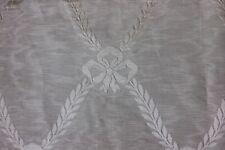 Antique Victorian c1880 French Home Dec Moiré Silk Fabric Textiles~Bows