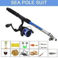 Starter Fishing Kit Set For Beginners/Kids Carp/Coarse Plastic Reel 1.8m N2S6