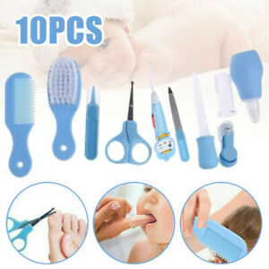 10pcs/set Toddler Baby Nail Clipper Scissors Hair Brush Comb Manicure Care Kit