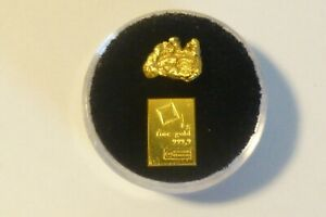 1 gram Gold bar Valcambi Suisse Large and  Beautiful Solid Gold Nugget