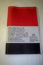 Jonsered chainsaw B2126 BV2126 operator's manual