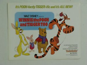 "Winnie the Pooh and Tigger Too Reprinted USA Lobby Card set of 6 11"" x 14"" Mint!"